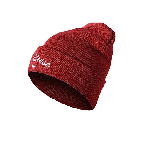 Elastische Kapuze (FeiBeauty Herbst und Winter Männer und Frauen einfarbig Raleuse Brief Stickerei Hip Hop Hut lose elastische warme Kapuze Kapuze)