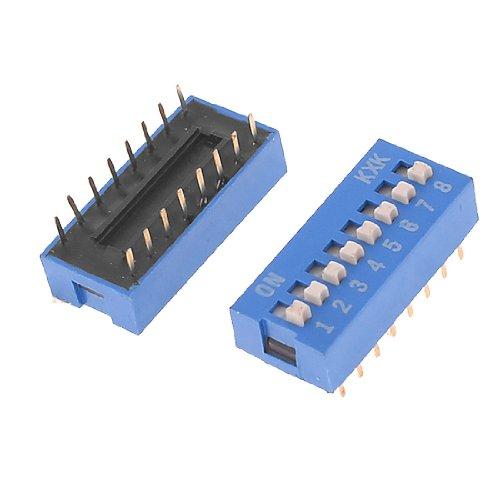 Aexit 2 Unidades 2.54mm Pin Pitch 2 x 8 Pines 8 Posición