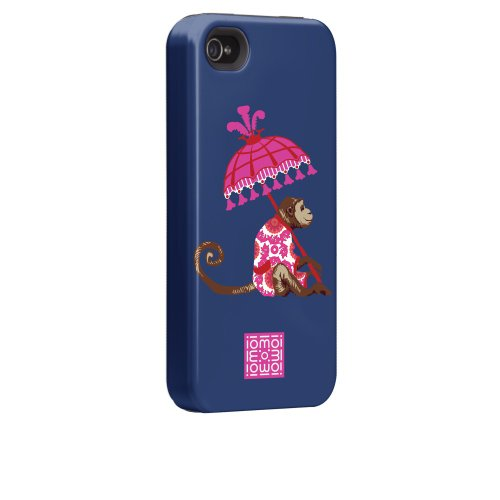 Case-mate iomoi Tough Designer Cases for Apple iPhone 4/4s - LV the Monkey Monkey with Umbrella