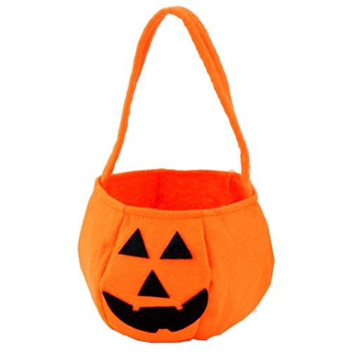 Zolimx Halloween Lächeln Kürbis Tasche Kinder Candy Bag (Paare Kostüme Diy)