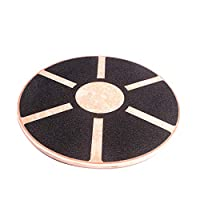 Byx Wooden Balance Board Training Balance Board Balance Stability Exercise Coordination Supplies Fitness Equipment Non-slip Round Self Fitness Trainer Body Exercise Fitness Balance Board