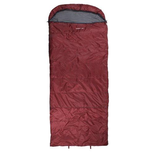 10T Schlafsack Kodiak -21° warm weich 2660g leicht XXL Deckenschlafsack 235x100 Rot - Konturierte Kordelzug