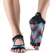 Toesox Bellarina Calcetines de yoga sin dedos, unisex para adulto, mujer, Pigment,