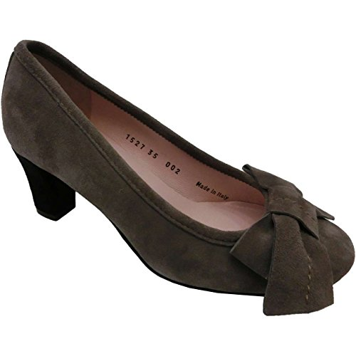 Scarpe donna Le Babe al63 - Sneaker camoscio, Velour, Elefante, Grigio (35)