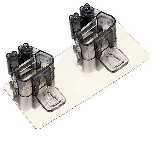 ZJDD Besen An Der Wand Befestigtes Lagerregal-Regal Für Mopp-Küchen-Organisator-Badezimmer-Zusatz-Dauerhafte Bürsten-Besen-Aufhänger-Halter, Schwarzes -