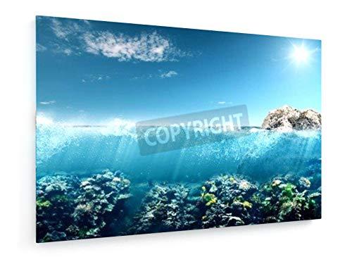 Schöne Australien - 30x20 cm - Textil-Leinwandbild auf Keilrahmen - Wand-Bild - Kunst, Gemälde, Foto, Bild auf Leinwand - Landschaft -