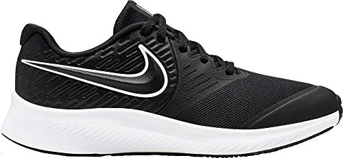 Nike Unisex-Kinder Star Runner 2 (GS) Sneaker, Schwarz White-Black-Volt 001, 35.5 EU