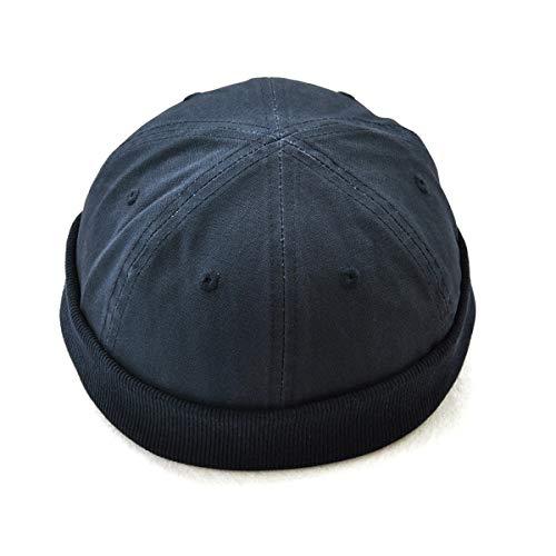 emanns mütze,Unisex Docker Mütze Hafenmütze Bikermütze Fischermütze BasecapTragbar Hat Rolled Cuff Harbour Hat für Damen Herren Sommermütze EINWEG verpackung ()