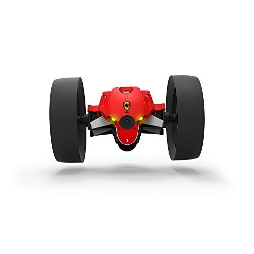 Parrot Jumping Race MAX - Dron terrestre (Foto y Video, 4GB, 14 Km/h, 20 Minutos de Vuelo, Saltos de 75 cm, programable, Ruedas F1) + Walkie-Talkie, Color Rojo