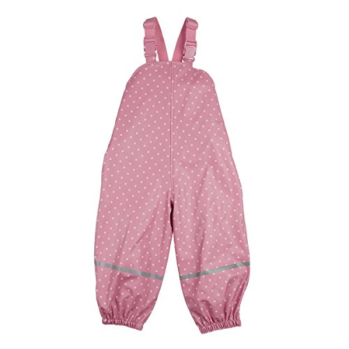 Bornino BASICS Basics Regenhose/Latzhose/Buddelhose - Regenhose Kinder Baby, Mädchen, Farbe: rosa, warm, wasserdicht, Öko-Tex zertifiziert, mit Reflektorstreifen - Buddelhose rosa 74/