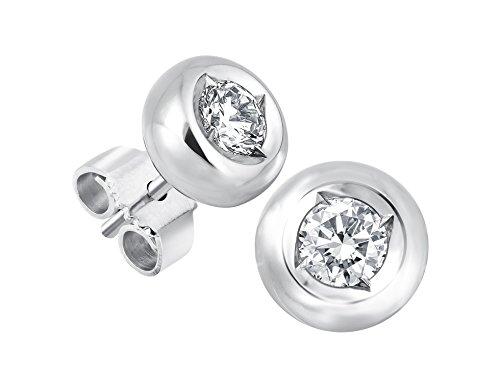 Diamant Ohrstecker Lupenrein 0, 30 ct 585 14 Kt Weißgold