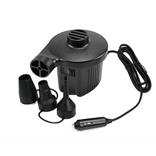 eBasic Elektrische Luftpumpe mit 3 Luftdüse für aufblasbare Matratze, Kissen, Bett, Boot, Schwimmring, DC12V/AC220V
