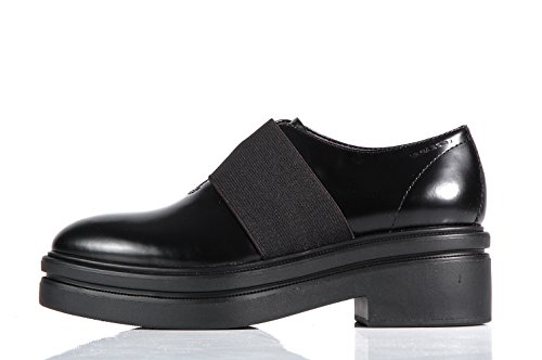 Vagabond Iza Platform black shoes with elastic band - Scarpe nere suola alta con elastico Black