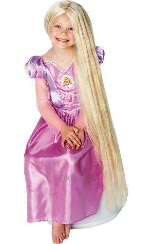ess) - Kinder Rapunzel Nachtleuchtende Perücke Disney Tangled Kostüm Zubehör ()