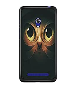 PrintDhaba Owl Man D-5365 Back Case Cover for ASUS ZENFONE 5 A501CG (Multi-Coloured)