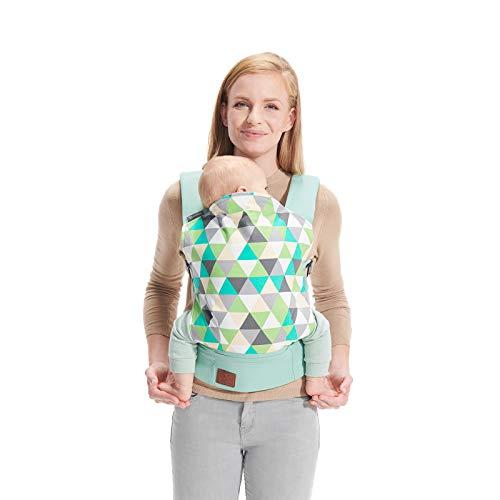 Kinderkraft Babytrage für Säuglinge und Kleinkinder NINO Rückentrage Bauchtrage Baby Carrier Kindertrage Ergonomisch aus Baumwolle leichte Konstruktion 3 Monate bis 20 kg Mint