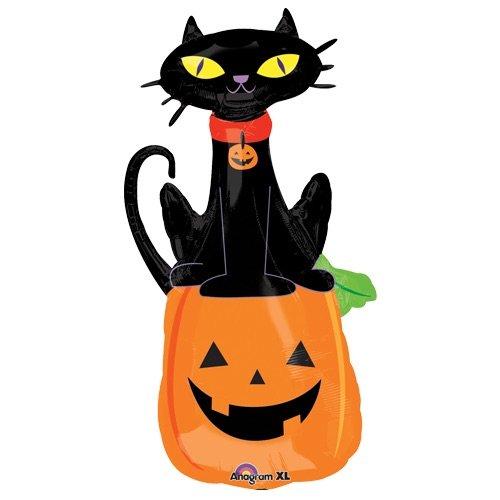 Amscan International 7.968.236,5cm schwarz Katze auf Kürbis Super Form