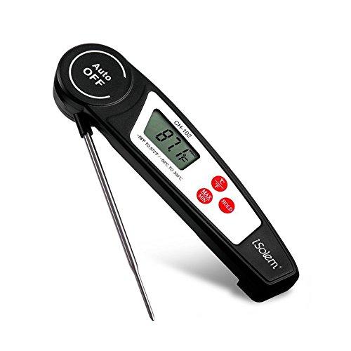 iSolem Lebensmittel Thermometer, Instant Lesen Fleisch Thermometer, Langen Sonde Automatische Abschaltung Digital Thermometer für Grill, Candy, Kochen, Milch, Tee, Küche, Grill Raucher -