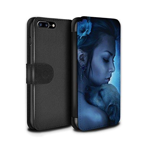 Officiel Elena Dudina Coque/Etui/Housse Cuir PU Case/Cover pour Apple iPhone 8 Plus / Oui Maman/Lion/Petit Design / Les Animaux Collection Le Calin/Chiot/Chien