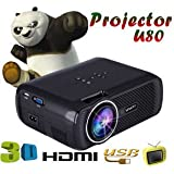 SLB Works Brand New 1000 Lumens 1080PMultimedia Portable HD LED Projector Home Theater Projector Hot