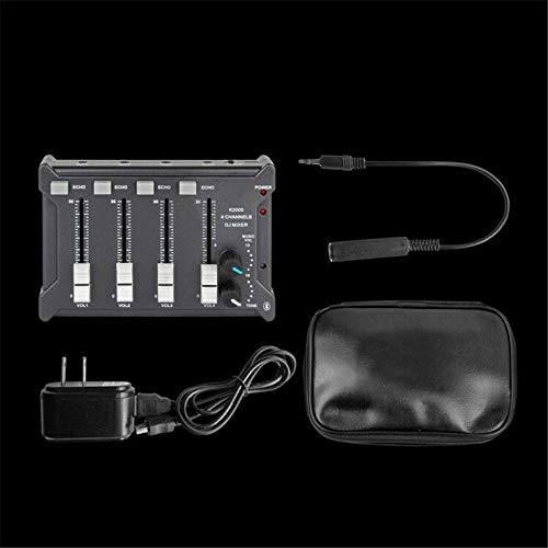 DJ Controller Vierkanal-Multifunktions-Mixer DJ Mixing Bluetooth Mixer 4-Kanal-Eingang 2-Kanal-Ausgang USB-Stecker All-In-One Deck DJ Controller für Serato DJ ( Farbe : Black , Size : 135x35x93mm )