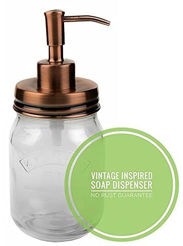 Vintage (Cuivre/rose) Distributeur de savon en acier inoxydable (pas de