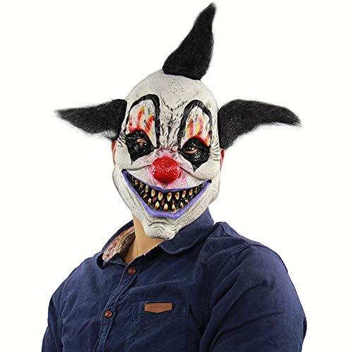 Frauen Kostüm Circus - Halloween Horror Demon Joker Maske Scary Cosplay Evil Circus Clown Maske Weiß