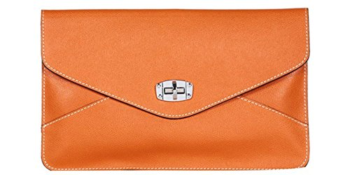 Lemiena , Damen Clutch Blau blau Orange