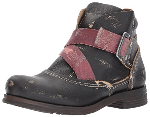 Fly London Womens Saji 047 Black Leather Boots 39 EU (Black Boots Leather Distressed)