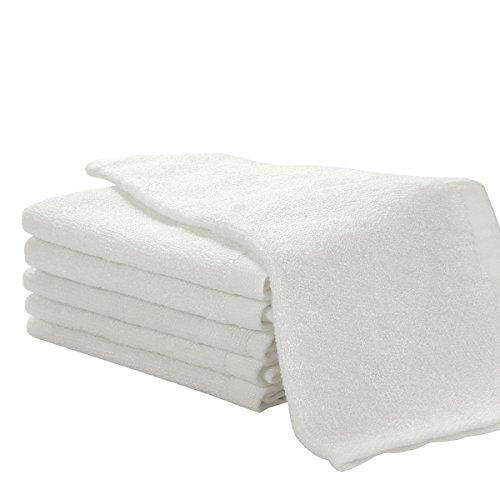 6er Pack Baby Waschlappen Super weich 25/25cm 100{db27ed16eab2c458cbf69cc3f3b53a236bad4b3b676f5a662857bedf371509f3} Bambus-Baumwolle Weiß, von Future Founder