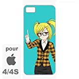 creosoleil Coque iphone Bords Souples TPU Silicone Caoutchouc Manga Girl pour iphone...