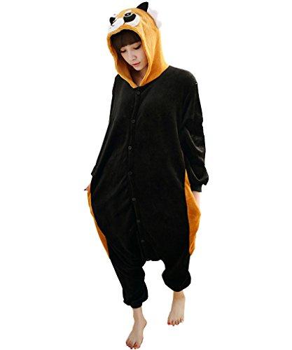 Unisex Adult Kigurumi Pyjamas Animaux Onesie Raton laveur M