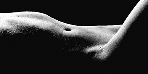 Artland Qualitätsbilder I Glasbilder Deko Glas Bilder 100 x 50 cm Liebe Erotik Frau Foto Schwarz Weiß D8QC Körperausschnitt Einer nackten Frau -