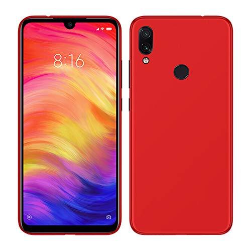 TBOC Funda de Gel TPU Roja para Xiaomi Redmi Note 7 [6.3 Pulgadas] Carcasa de Silicona Ultrafina y Flexible para Teléfono Móvil [No es Compatible con el Xiaomi Redmi Note 6]