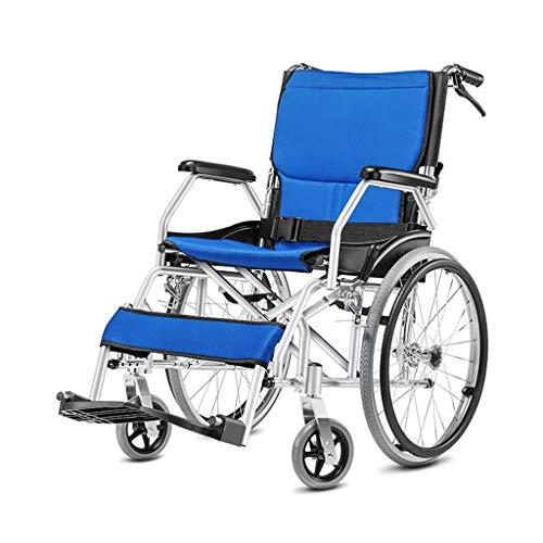 Flashing lights Beweglicher Rollstuhl, Der Licht Alten Spielraumtransportstuhl Untaugliche Spielraumwagenlaufkatze-Aluminiumlegierung Faltet, Nur Das Gewicht 10kg, Das Eine Hand ErwäHnen Kann -