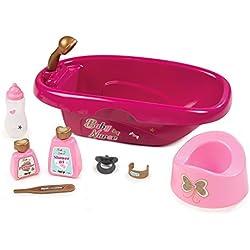 Smoby 220330Baby Nurse Bañera para muñecas, Color Rosa