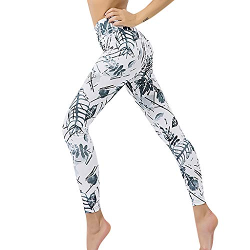 Leggings Damen,Digitaldruck Yogahosen Hüften hohe Taille Thread Hosen Stretch Fitness-Hose 3D Drucken Sweathose Hüfte anheben Jogginghose Nahtlose Freizeithosen
