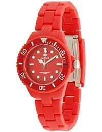 Marea B40106/7 - Reloj de mujer de cuarzo, correa de caucho color rojo