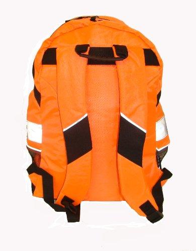 Euro Rucksack, Fahrradrucksack, Schulrucksack, in 3 leuchtenden Farben erhältlich - Hi Vis Orange
