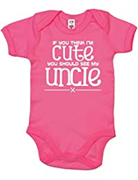 IiE, If you think I'm Cute you should see my Uncle, Baby Girl Bodysuit