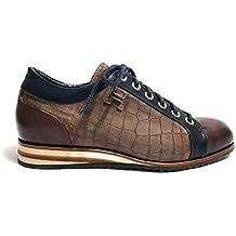 Harris Scarpe Uomo Sneaker Punta E Tallone Pelle Stampa Cocco Shade  Rosso Nero U17HA73 fee514f324f