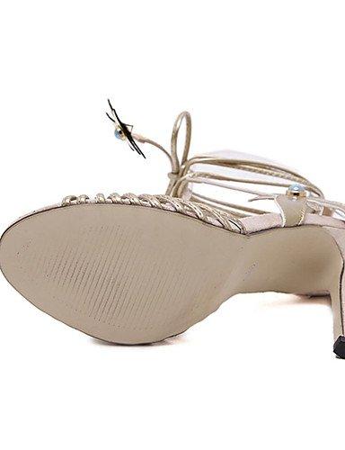 WSS 2016 Chaussures Femme-Décontracté-Argent / Or-Talon Aiguille-Talons-Chaussures à Talons-Polyuréthane silver-us8 / eu39 / uk6 / cn39