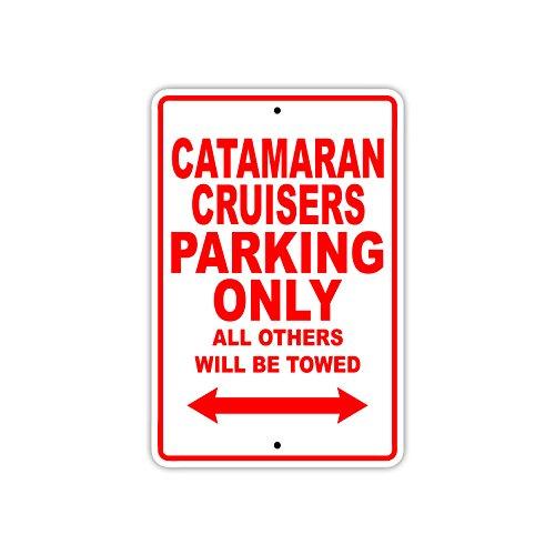 Afterprints Placa metálica de Aluminio para señalización de Catamaran Cruisers Parking Only...