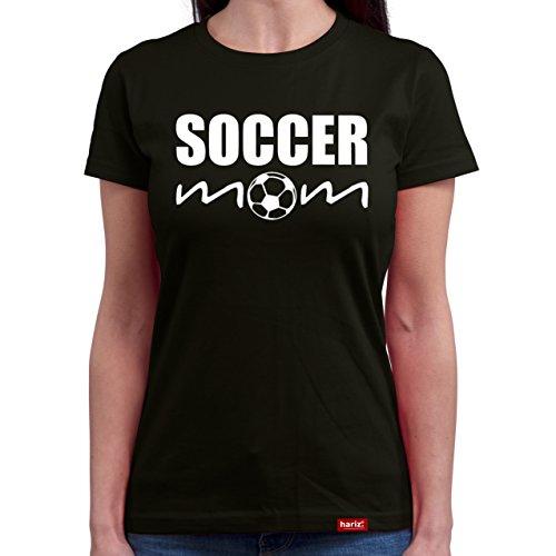 HARIZ ® #Mama: Original Collection Damen T-Shirt // 36 Designs wählbar // Schwarz, S-XXL // Inkl. Urkunde, Ideales Geschenk zum Muttertag Weihnachten oder Geburtstag #Mama25: Soccer Mom XL - Soccer Mom