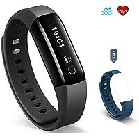 Braccialetto Fitness HolyHigh Vigorun 4 HR con Cardiofrequenzimetro da Polso, Bracciale Intelligente Nuoto impermeabile IP68/ Contapassi /Contacalorie e avviso Sedentarietà per Android e iOS