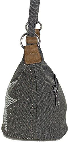 a501625c8f9c3 ... L S Collection Stern Handtaschen Damen - kleine Umhängetasche - Mini Stern  Tasche aus Canvas (16 ...