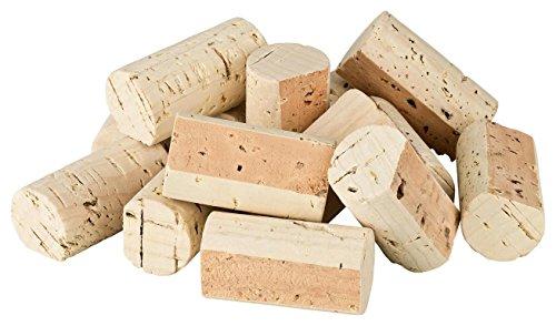 100 vor-geschnittene, neue Weinkorken zum Bau einer Pinnwand | Naturkorken (Flaschenkorken) aus Weinflaschen, bereits fertig geschnitten, ideal zum Basteln und Dekorieren (Pinnwand-Bau | DIY | Bastel)