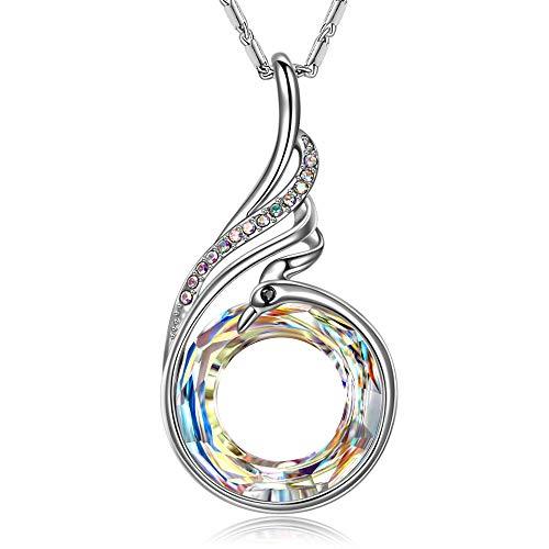 Kate Lynn Halskette Damen Geschenke Halskette für Frauen Mädchen Anhänger Geburtstag Jubiläum Hochzeitsgeschenke für Sie Sterling Silber Halskette 18. Geburtstagsgeschenke Jubiläumsgeschenk