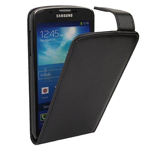 WARM home Geschenk Geben Robuste haltbare vertikale Flip Leder Tasche für Samsung Galaxy S IV Active / i9295 Dekoration (Farbe : Schwarz) Active Iv Softshell