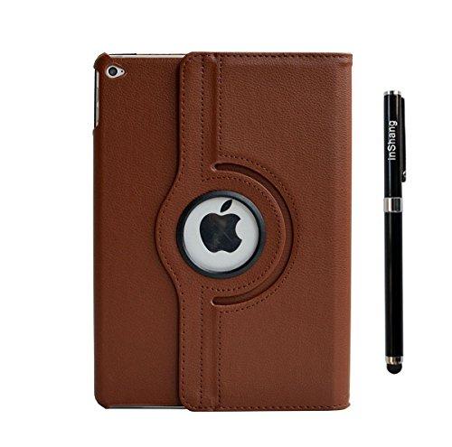 inShang iPad air 2 ipad 6 Housse (iPad 2014-2015 Version) Etui Smart Cover Pour Tablette iPad6 PU cuir, - Fait automatiquement passer en mode veille et sortir du mode veille votre, Coque Avec Support Brown